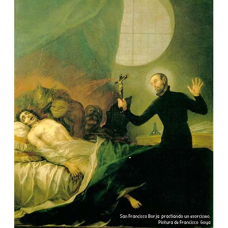 exorcismo pintura Francisco Goya